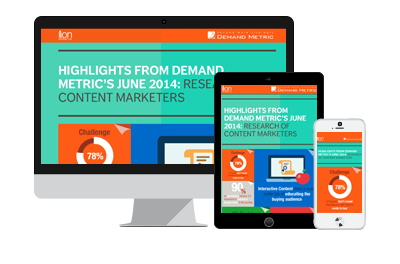 Demand Metric Content Marketing Research Report Interactive Infographic