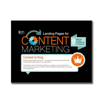 Landing Pages for Content Marketing -- Infographic