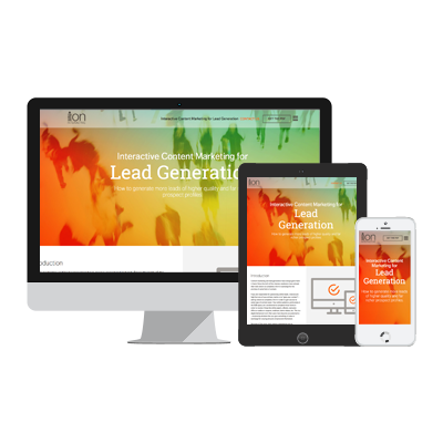 Interactive content for lead generation
