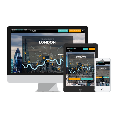 ion interactive content example UBM Geek's Guide to London Infographic