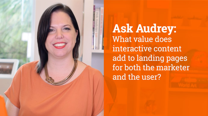 What value does interactive content add to landing pages for both the marketer & the user?