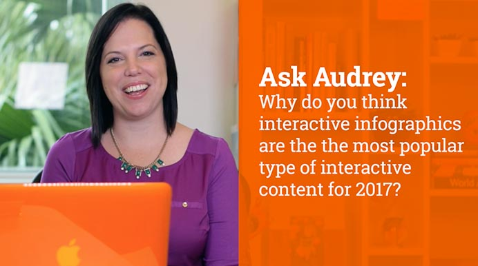 Why do you think interactive infographics are the the most popular type of interactive content for 2017?