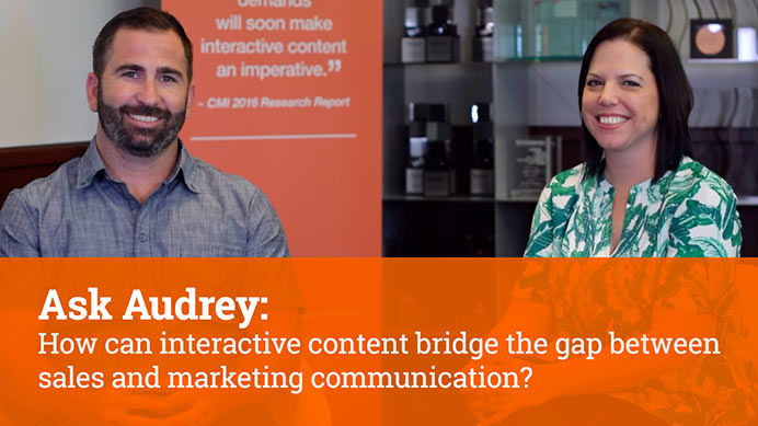 How can interactive content bridge the gap between sales and marketing communication?